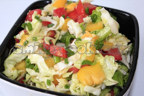 Салат перец болгарский капуста помидор