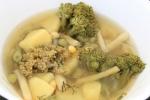 Овощной суп со стручковой фасолью и цветной капустой
