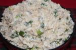 Салат с печенью трески, сыром и яйцом