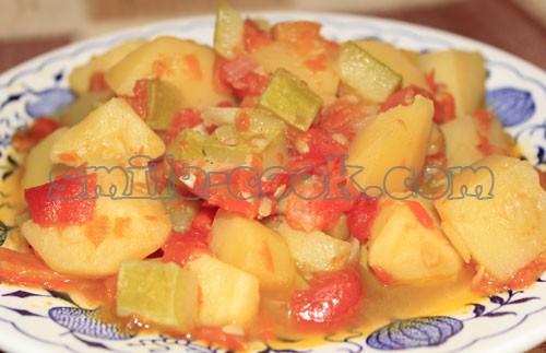 Овощное рагу с кабачками - рецепт приготовления овощного рагу с кабачками