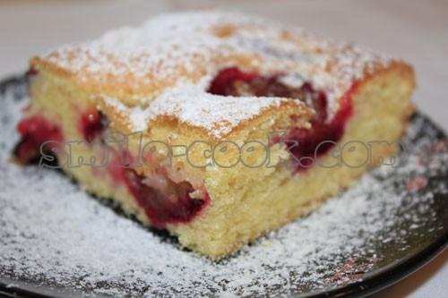 Рецепт: Быстрый пирог со сливами - все рецепты России