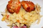 Свиные ребрышки в аджике с картофелем
