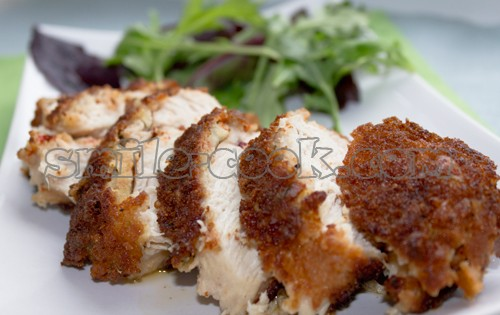 куриные грудки в панировке из хлебных крошек