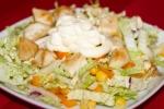Салат с куриным филе, перцем и кукурузой