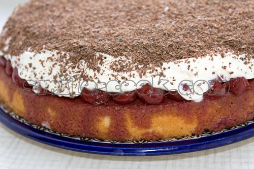 Торт с маскарпоне и вишней рецепт с фото