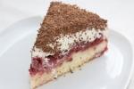 Торт с вишнями и кремом из маскарпоне
