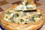 Открытый пирог (киш) с брокколи и сыром фета