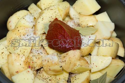 приготовление картошки с мясом в мультиварке редмонд рецепты