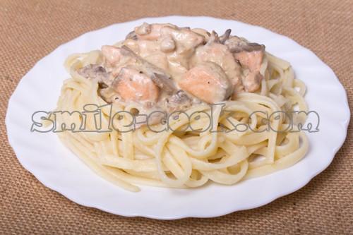 как приготовить сливочный соус для спагетти с грибами