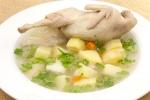 Простой суп с перепелами