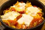 Испанская яичница с овощами - пиперада
