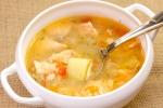 Рыбный суп из красной рыбы с овощами и пшеном