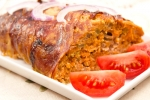 Мясной хлебец, запеченный в беконе