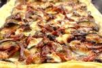 Пирог (киш) с баклажанами, вялеными томатами и моцареллой