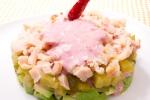 Салат из копченой курицы с авокадо