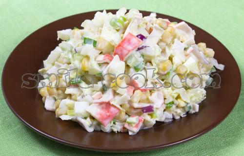 салат пекинская капуста крабовые палочки кукуруза