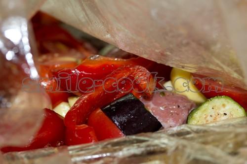 Телятина, запеченная с овощами в рукаве - рецепт приготовления телятины, запеченной с овощами в рукаве