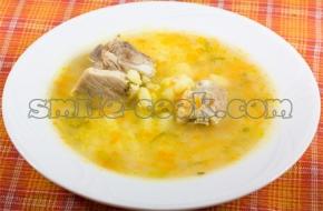 Суп с кукурузной крупой