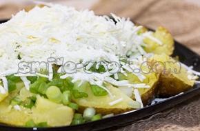 Печеный картофель с брынзой