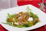 Салат с тыквой, фетой и хамоном