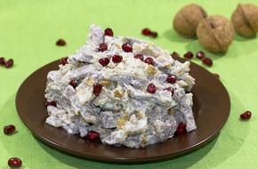 Салат с языком и орехами