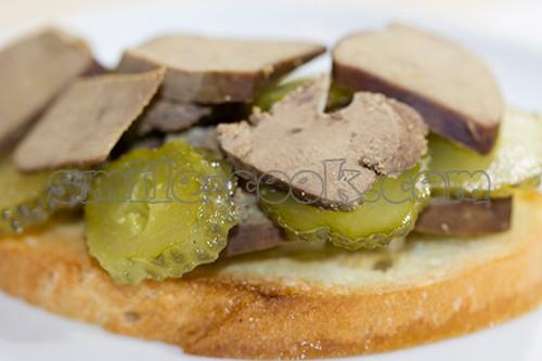 сендвич с печенью