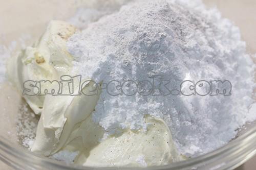 маскарпоне с сахарной пудрой