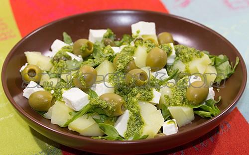 рецепт приготовления салата картофельного с