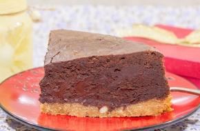 Экстрашоколадный пирог-чизкейк