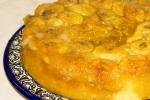 Банановый пирог с соком маракуйи