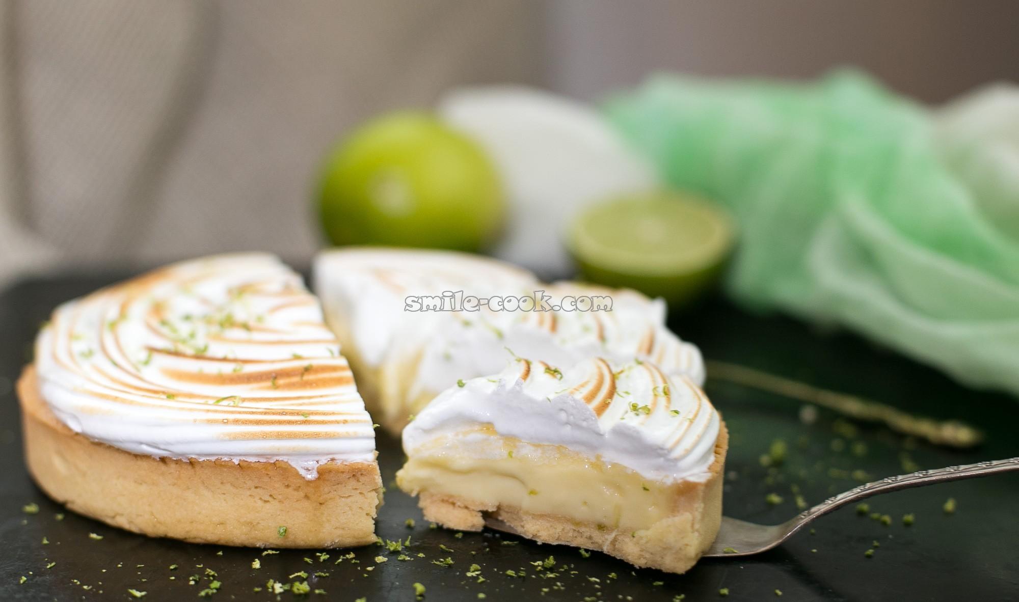 лимонная тарта разрез